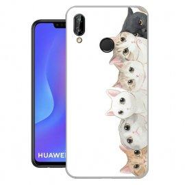 Funda Huawei P Smart Plus Gel Dibujo Gatos