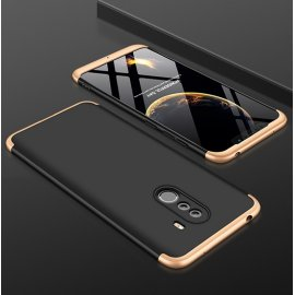 Funda 360 Xiaomi Pocophone F1 Dorada y Negra