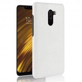 Carcasa Xiaomi Pocophone F1 Cuero Estilo Croco Blanco