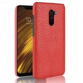 Carcasa Xiaomi Pocophone F1 Cuero Estilo Croco Roja