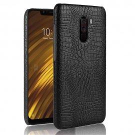 Carcasa Xiaomi Pocophone F1 Cuero Estilo Croco Negro
