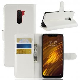 Funda Libro Xiaomi Pocophone F1 Soporte Blanca