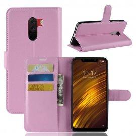 Funda Libro Xiaomi Pocophone F1 Soporte Rosa
