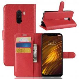 Funda Libro Xiaomi Pocophone F1 Soporte Roja