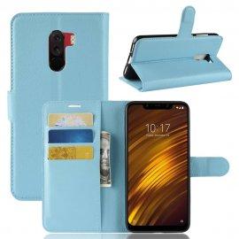 Funda Libro Xiaomi Pocophone F1 Soporte Azul