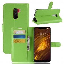 Funda Libro Xiaomi Pocophone F1 Soporte Verde