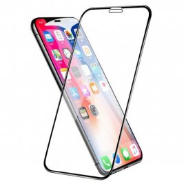 Protector Pantalla Cristal Templado Premium iPhone XS Negro