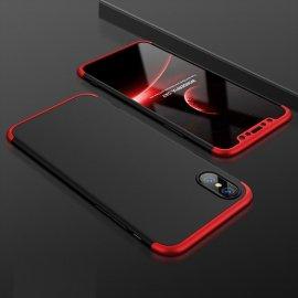 Funda 360 iPhone XS Negra y Rojo