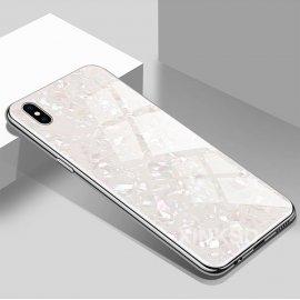 Funda 360 iPhone XS Marmol Templada Blanca