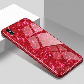 Funda 360 iPhone XS Marmol Templada Roja