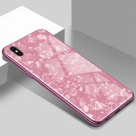 Funda 360 iPhone XS Marmol Templada Rosa