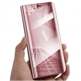 Funda Libro Smart Translucida iPhone XS Rosa