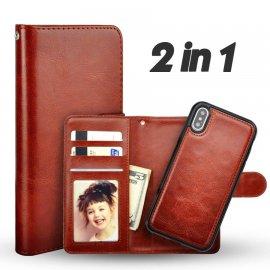 Funda Libro Cuero iPhone XS 2 en 1
