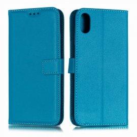 Funda cuero Flip iPhone XS Turquesa