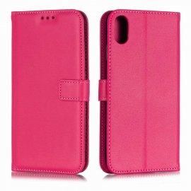 Funda cuero Flip iPhone XS Rosa