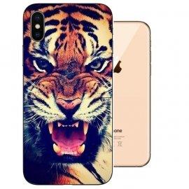 Funda iPhone XS Gel TPU Dibujo Tigre