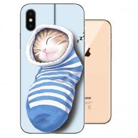 Funda iPhone XS Gel TPU Dibujo ZZZ