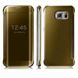Funda Full Ventana Samsung Galaxy S7 Dorada