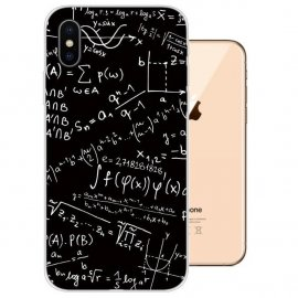 Funda iPhone XS Gel TPU Dibujo Formulas
