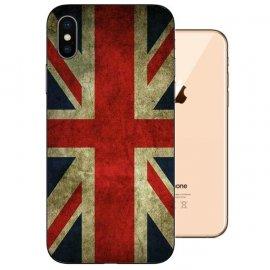 Funda iPhone XS Gel TPU Dibujo Reino Unido