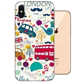 Funda iPhone XS Gel TPU Dibujo London