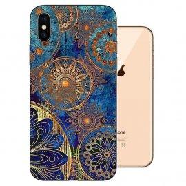 Funda iPhone XS Gel TPU Dibujo Flor