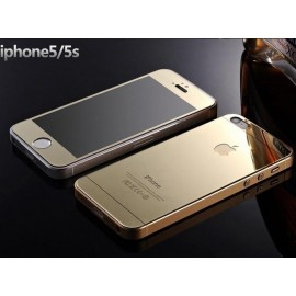 Kit Protector Pantalla Cristal Templado Iphone 5 Dorado