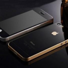 Kit Protector Pantalla Cristal Templado Iphone 5 Negro