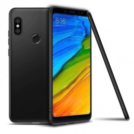 Funda Gel Xiaomi MI 8 SE Flexible y lavable Mate Negra