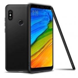 Funda Gel Xiaomi MI 8 SE Flexible y lavable Mate Negra