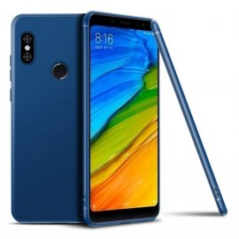 Funda Gel Xiaomi MI 8 SE Flexible y lavable Mate Azul