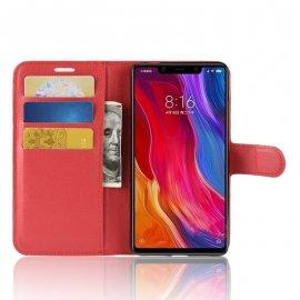 Funda Libro Xiaomi MI 8 SE Soporte Rojo