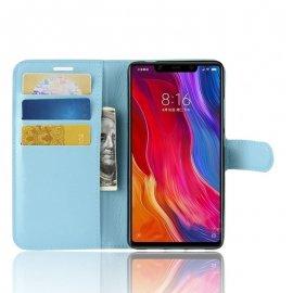 Funda Libro Xiaomi MI 8 SE Soporte Azul