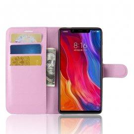 Funda Libro Xiaomi MI 8 SE Soporte Rosa