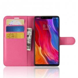 Funda Libro Xiaomi MI 8 SE Soporte Fucsia