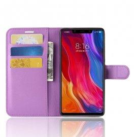 Funda Libro Xiaomi MI 8 SE Soporte Violeta