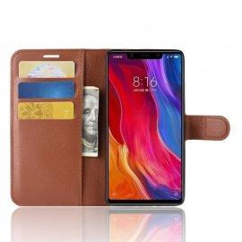 Funda Libro Xiaomi MI 8 SE Soporte Marron