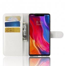 Funda Libro Xiaomi MI 8 SE Soporte Blanca
