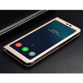 Funda Libro Xiaomi MI 8 SE con Tapa y Soporte Full Dorada