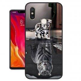 Funda Xiaomi MI 8 SE Gel Dibujo Gato Efecto