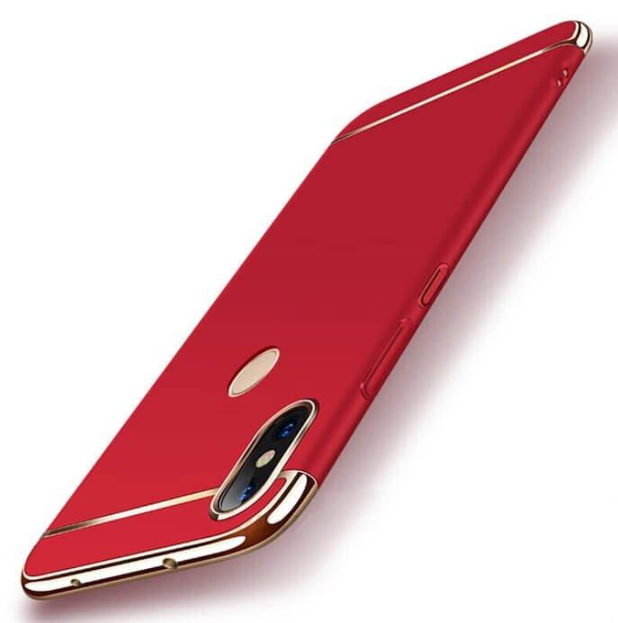 Funda Xiaomi Redmi Note 6 Pro Cromadas Roja.