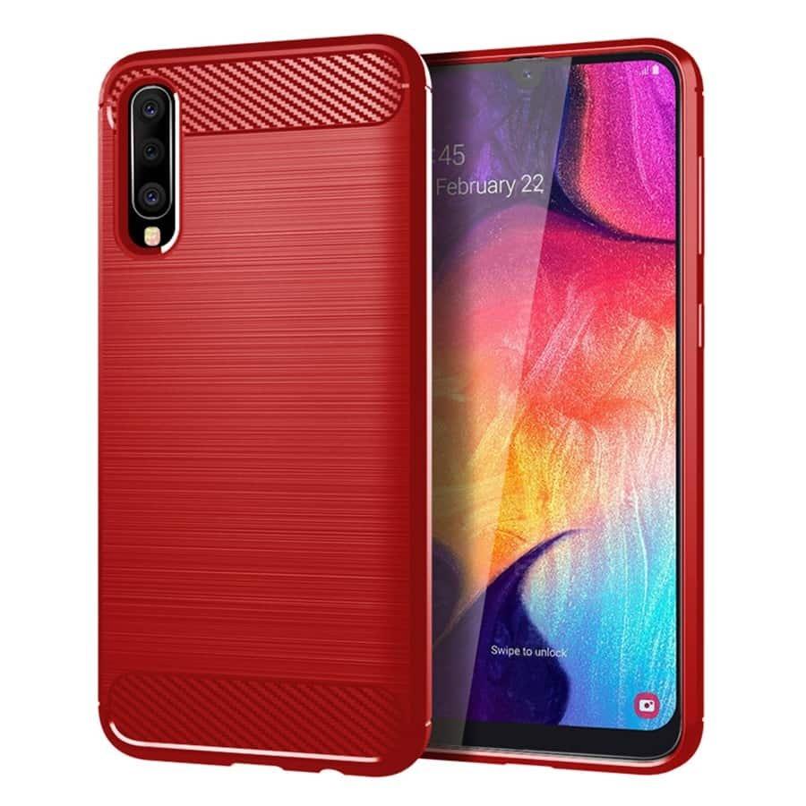 Funda Samsung Galaxy A50 Tpu 3D Roja
