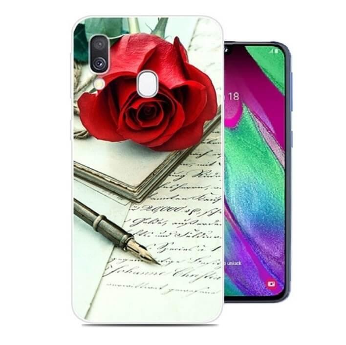 Funda Samsung Galaxy A20e Dibujo Rosa