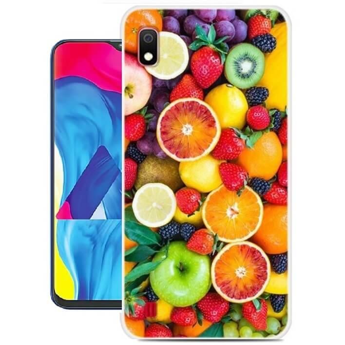 Funda Samsung Galaxy A10 Gel Dibujo Frutas