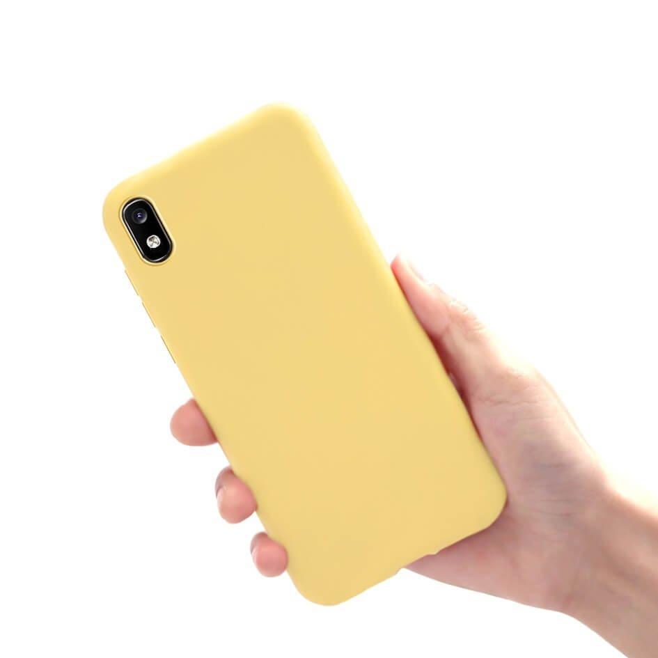 Funda Gel Samsung Galaxy A10 Mate Amarilla