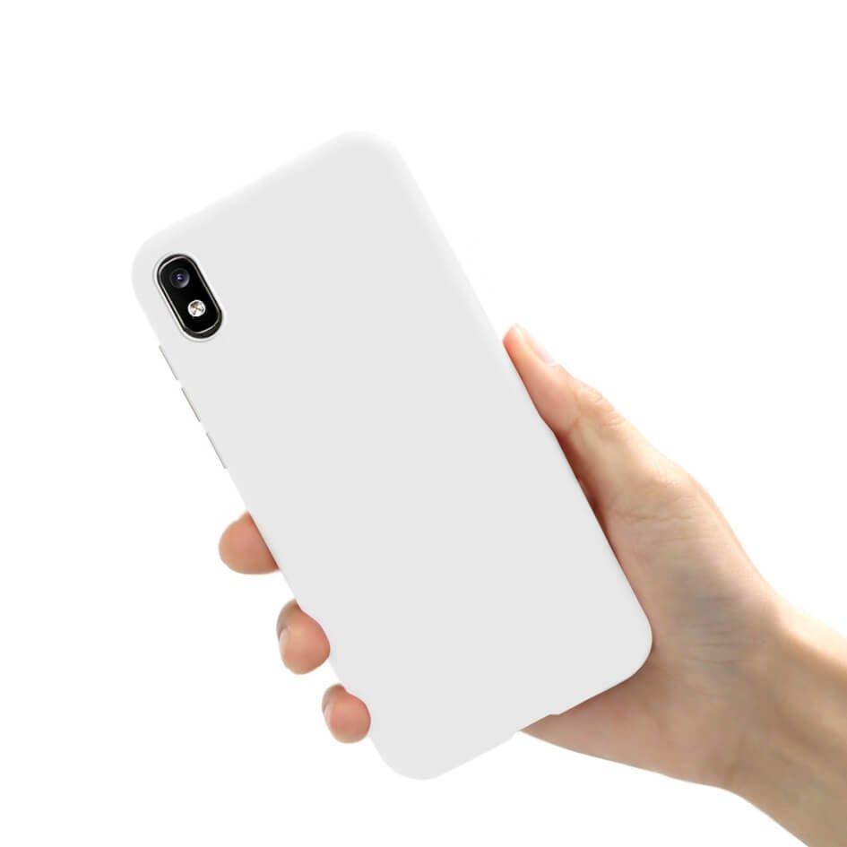Funda Gel Samsung Galaxy A10 Mate Blanca
