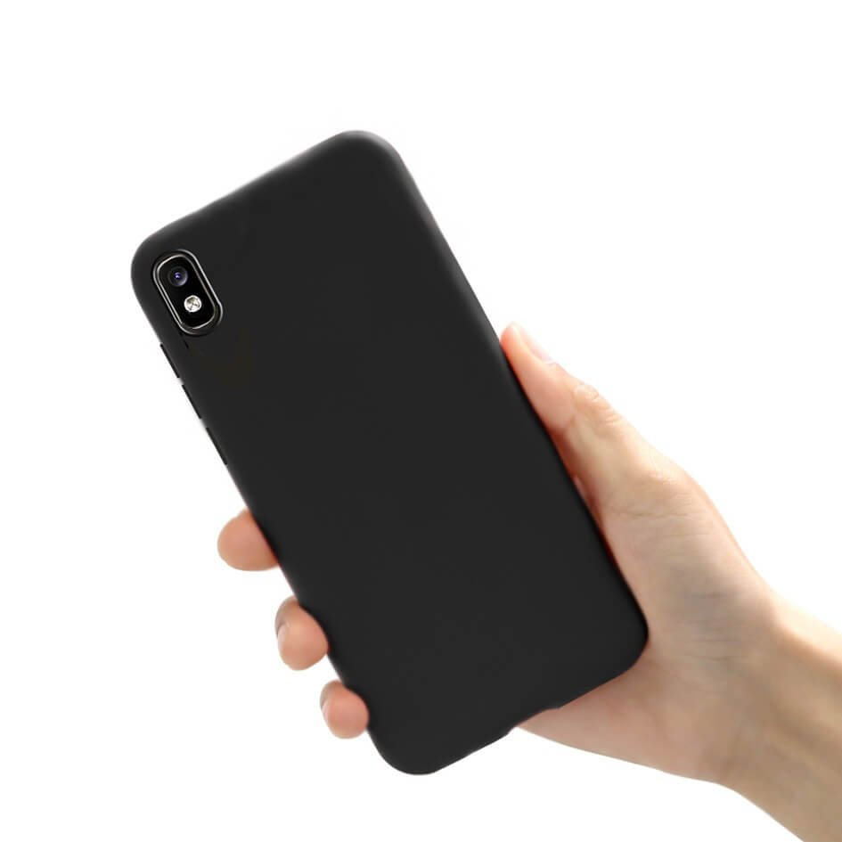 Funda Gel Samsung Galaxy A10 Mate Negra