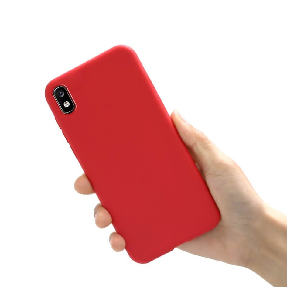 Funda Gel Samsung Galaxy A10 Mate Roja