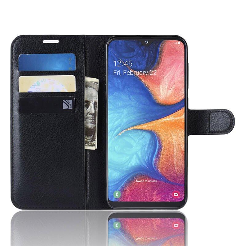 Funda Libro Samsung Galaxy A10 Soporte Negra.
