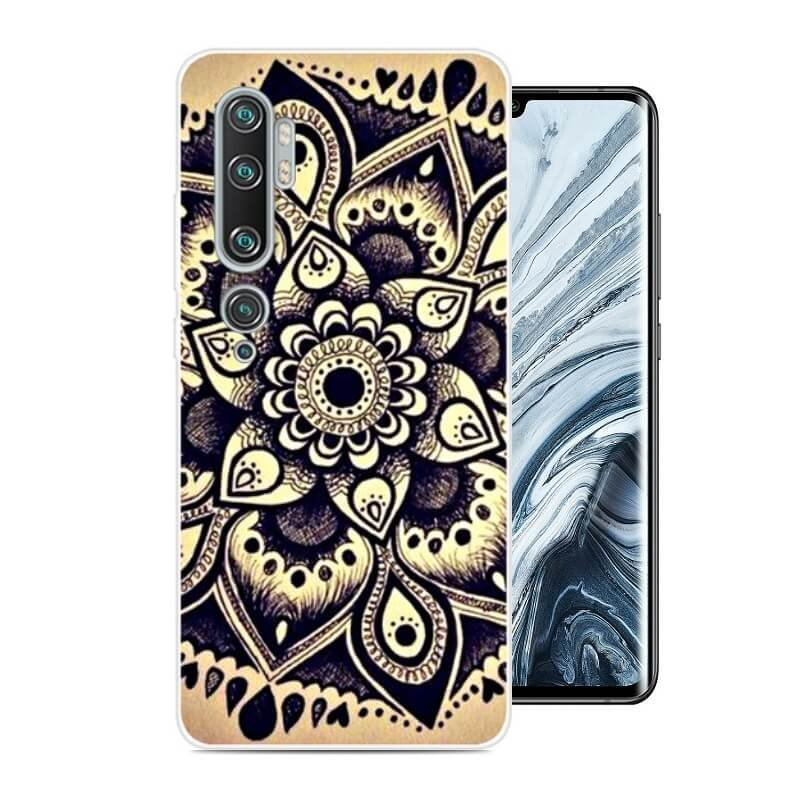 Funda Xiaomi MI Note 10 Gel Dibujo Flor
